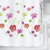 10.19251 - Flower Meadow - Duschvorhang Textil - red