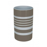 10.17280-Tube Stripes-Zahnbecher-taupe-white