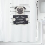 10.18923-Bad dog-Duschvorhang Textil-black