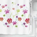10.19251-Flower Meadow-Duschvorhang Textil-red