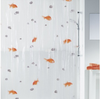 10.00097-Goldfish-Duschvorhang Plastik-orange