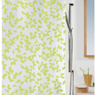 10.08184-Blatt-Duschvorhang Plastik-light green