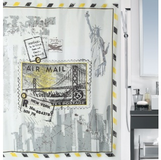 10.17893-Riverdale-Duschvorhang Textil-yellow-black
