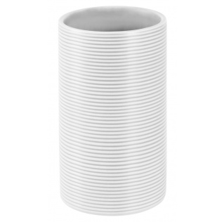 10.18230-Tube ribbed-Zahnbecher-white
