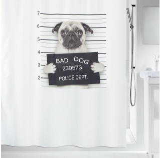 10.18470-Bad dog-Duschvorhang Textil-black